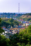 Colorful rooftops Stock Images