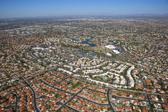 Colorful Rooftops Of Scottsdale Stock Photography