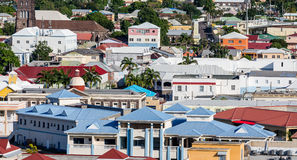 Colorful Rooftops of St Kitts Royalty Free Stock Photo