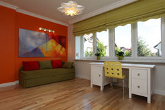 Colorful room. Colorful teenage room in a modern style Stock Photography