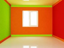 Colorful room with a window Stock Image