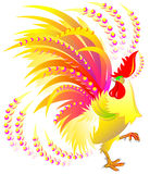Colorful rooster. Chinese symbol of the 2017 happy New Year. Royalty Free Stock Images