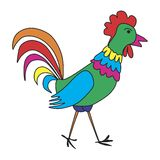 Colorful rooster Royalty Free Stock Photo