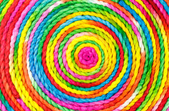 Colorful rope circle. Made from mulberry paper Stock Photos