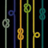 Colorful rope collection Stock Image