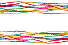 Colorful rope frame. Isolated on white background Stock Photo