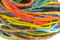 Colorful rope  made from mulberry paper Royalty Free Stock Photography