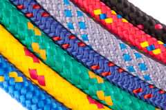 Colorful rope rainbow Royalty Free Stock Image