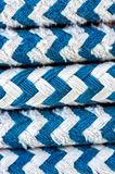 Colorful rope on sailing boat Royalty Free Stock Photography