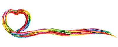 Colorful rope text frame. On white background Stock Images