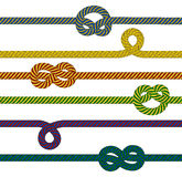 Colorful ropes collection Royalty Free Stock Photo