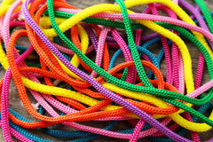 Colorful ropes Stock Images