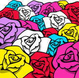 Colorful Rose background Stock Image