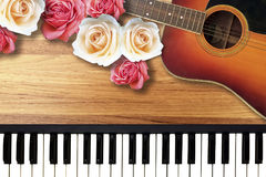 Colorful Roses with Romantic Valentine Love Song. Royalty Free Stock Photo