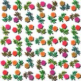 Colorful roses on white - seamless decorative fashionable floral pattern; Royalty Free Stock Photos