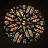 Colorful rosette in Basilica of Levoca, Slovakia Stock Photos
