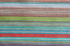 Colorful rough Fabric Texture. Pattern, Background Stock Photo