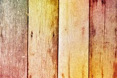 Colorful rough wooden texture background Stock Images