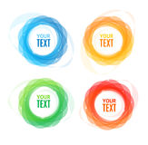 Colorful Round Abstract Banners Shape Set. Vector Royalty Free Stock Photography