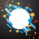 Colorful round background on gray. Stock Image