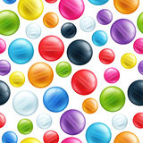 Colorful round beads seamless pattern Royalty Free Stock Photography