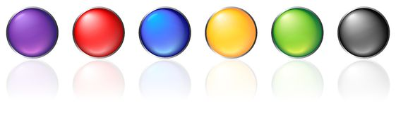 Colorful round buttons. On the white background Stock Images