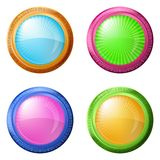 Colorful round buttons, set Stock Photography