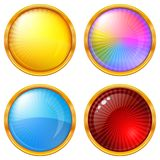 Colorful round buttons, set Royalty Free Stock Images