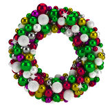 Colorful round christmas advent wreath / Isolated Royalty Free Stock Images