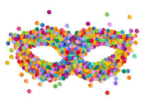 Colorful round confetti carnival mask vector illustration Royalty Free Stock Image
