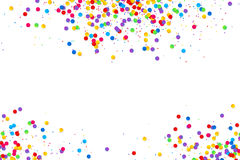 Colorful round confetti frame isolated on white background. Vector colorful round confetti frame isolated on white background Stock Photo