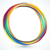 Colorful round 3d vector frame. Colorful rainbow round 3d vector frame with shadow Stock Photos