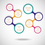 Colorful round diagram infographics Stock Photos