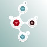 Colorful round diagram infographics Stock Photo