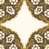 Colorful round floral border corner background. Colorful round floral border corner abstract background Royalty Free Stock Photos
