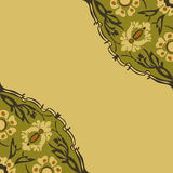 Colorful round floral border corner background  Stock Photography