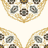 Colorful round floral border corner background  Royalty Free Stock Image