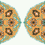 Colorful round floral border corner background  Royalty Free Stock Images
