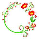 Colorful round frame Stock Images