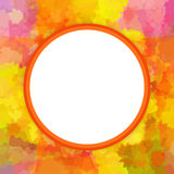 Colorful round frame Royalty Free Stock Photo
