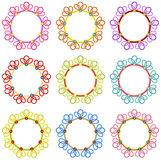 Colorful Round Frames Stock Photography