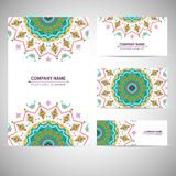 Colorful round  geometric pattern in aztec style Royalty Free Stock Images