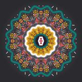 Colorful round  geometric pattern in aztec style Royalty Free Stock Photos