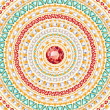 Colorful round jewels background. Stock Photo