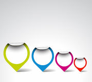Colorful Round labels / pointers royalty free illustration