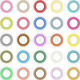 Colorful round labels Royalty Free Stock Photos
