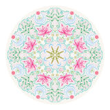 Colorful Round Lacy Tantric Ornament Royalty Free Stock Photography