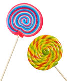 Colorful round lollipop isolated Stock Photo