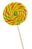 Colorful round lollipop isolated Royalty Free Stock Image