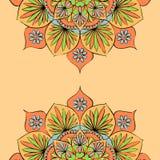 Colorful round mandala ornament Stock Photography